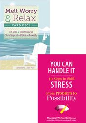 Stress and Anxiety Relief Book and Card Bundle