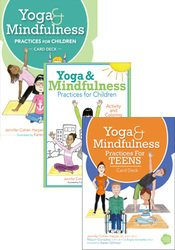 Yoga and Mindfulness for Children and Teens Card Deck & Activity Book Bundle