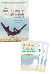Managing Anxiety and Worry Workbook & Card Deck Bundle