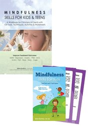 Mindfulness Skills for Kids Workbook & Card Deck Bundle