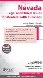 Image ofNevada Legal and Ethical Issues for Mental Health Clinicians