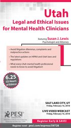 Image ofUtah Legal and Ethical Issues for Mental Health Clinicians