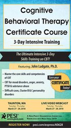 Image ofCognitive Behavioral Therapy Certificate Course: 3-Day Intensive Train
