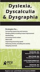 Image ofDyslexia, Dyscalculia & Dysgraphia