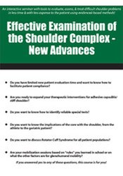 Image of Effective Examination of the Shoulder Complex: New Advances