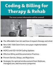 Image of 2018 Coding and Billing for Therapy and Rehab
