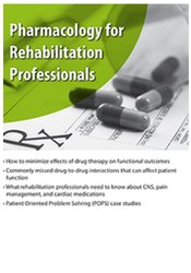 Image of Pharmacology for Rehabilitation Professionals