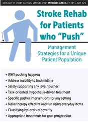 "Image of Stroke Rehab for Patients who ""Push"": Management Strategies for a Uniq"