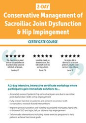 Image of 2 DAY: Conservative Management of Sacroiliac Joint Dysfunction & Hip I