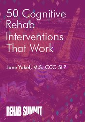 Image of 50 Cognitive Rehab Interventions That Work