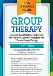 Image of 2-Day Certificate Course - Group Therapy: Evidence-Based Strategies to