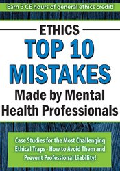 Image of Ethics: Top 10 Mistakes Made by Mental Health Professionals *Pre-Order
