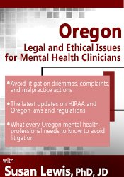 Image of Oregon Legal and Ethical Issues for Mental Health Clinicians