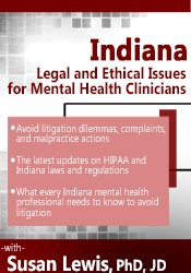 Image of Indiana Legal and Ethical Issues for Mental Health Clinicians