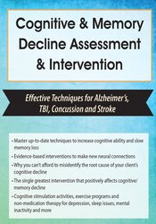 Image of Cognitive & Memory Decline Assessment & Intervention: Effective Techni