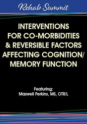 Often overlooked, many co-morbidities and reversible factors complicate the proper identification of the problem at the root of your patients cognitive/memory decline.