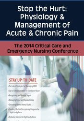 Image of Stop the Hurt: Physiology & Management of Acute & Chronic Pain