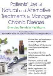 Image of Patients' Use of Natural and Alternative Treatments to Manage Chronic