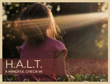 H.A.L.T. a mindful check in