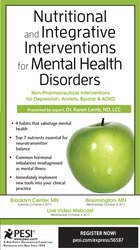 Image ofNutritional and Integrative Interventions for Mental Health Disorders: