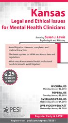 Image ofKansas Legal and Ethical Issues for Mental Health Clinicians