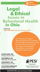 Image ofLegal and Ethical Issues in Behavioral Health in Ohio