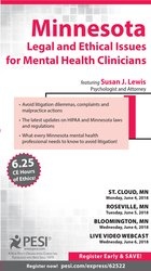Image ofMinnesota Legal and Ethical Issues for Mental Health Clinicians