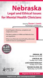 Image ofNebraska Legal and Ethical Issues for Mental Health Clinicians