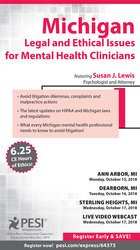 Image ofMichigan Legal and Ethical Issues for Mental Health Clinicians