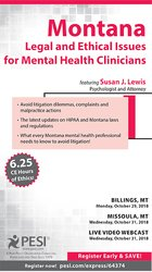 Image ofMontana Legal and Ethical Issues for Mental Health Clinicians