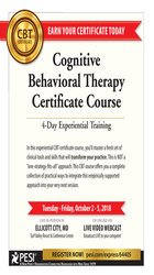 Image ofCognitive Behavioral Therapy Certificate Course: 4-Day Experiential Tr