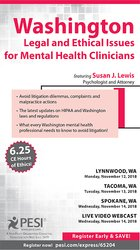 Image ofWashington Legal and Ethical Issues for Mental Health Clinicians