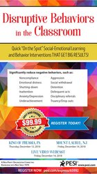 """Image of Disruptive Behaviors in the Classroom: Quick """"On the Spot"""" Social-Emot"""