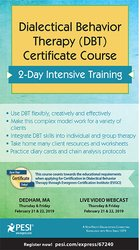 Image ofDialectical Behavior Therapy (DBT) Certificate Course; 2-Day Intensive