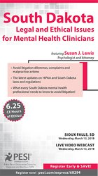 Image ofSouth Dakota Legal & Ethical Issues for Mental Health Clinicians