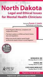 Image ofNorth Dakota Legal & Ethical Issues for Mental Health Clinicians