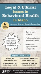 Image of Legal & Ethical Issues in Behavioral Health in Idaho