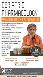 Image ofGeriatric Pharmacology: Maximizing Safety & Effectiveness