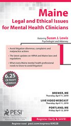 Image ofMaine Legal and Ethical Issues for Mental Health Clinicians