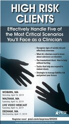 Image ofHigh Risk Clients: Effectively Handle Five of the Most Critical Scenar