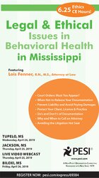 Image ofLegal and Ethical Issues in Behavioral Health in Mississippi