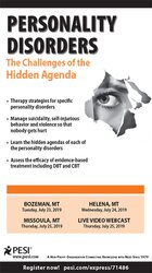 Image ofPersonality Disorders: The Challenges of the Hidden Agenda