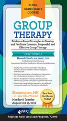 Image of 2-Day Certificate Course Group Therapy: Evidence-Based Strategies to D