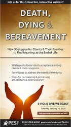 Image of Death, Dying & Bereavement: New Strategies for Clients & Their Familie