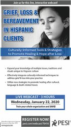 Image of Grief, Loss & Bereavement in Hispanic Clients: Culturally-Informed Too