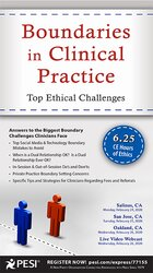 Image of Boundaries in Clinical Practice: Top Ethical Challenges
