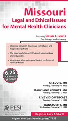 Image of Missouri Legal and Ethical Issues for Mental Health Clinicians