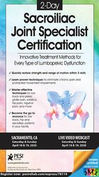 Image of 2-Day: Sacroiliac Joint Specialist Certification: Innovative Treatment