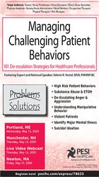 Image of Managing Challenging Patient Behaviors: 101 De-escalation Strategies f