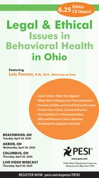Image of Legal and Ethical Issues in Behavioral Health in Ohio